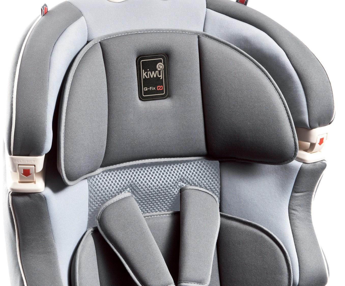 babytop24 kiwy autositz slf123 mit q fix adapter f r isofix stone. Black Bedroom Furniture Sets. Home Design Ideas